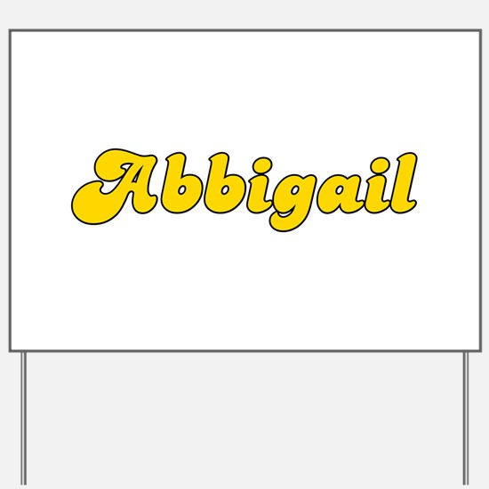 Retro Abbigail (Gold) Yard Sign