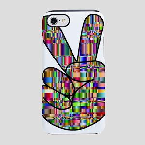 Chromatic Rainbow Peace Hand iPhone 8/7 Tough Case