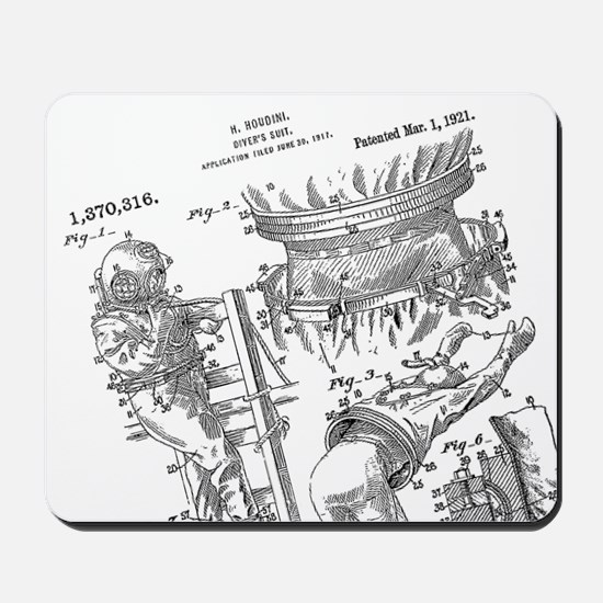 Houdini Diving Suit Patent Mouse Pad