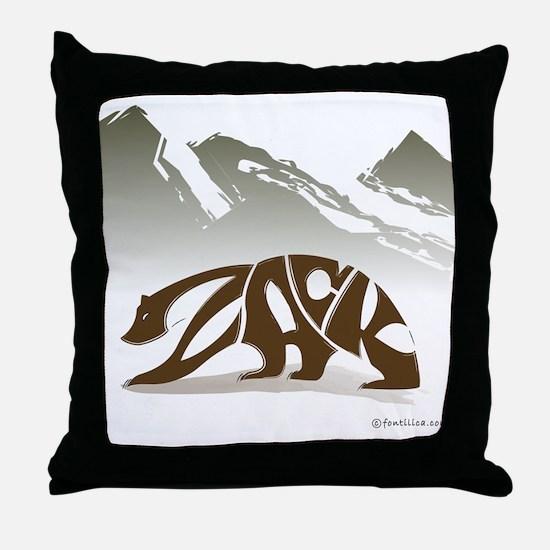 Zack (Brown Bear) Throw Pillow
