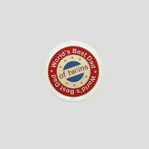 World's Best Dad of Twin Boy Girl Mini Button