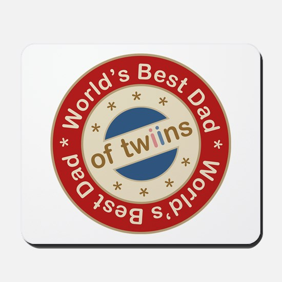 World's Best Dad of Twin Boy Girl Mousepad