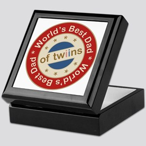 World's Best Dad of Twin Boy Girl Keepsake Box