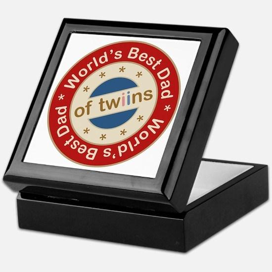 World's Best Dad of Twin Boy Girl Keepsake Box