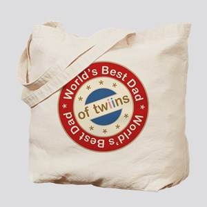 World's Best Dad of Twin Boy Girl Tote Bag