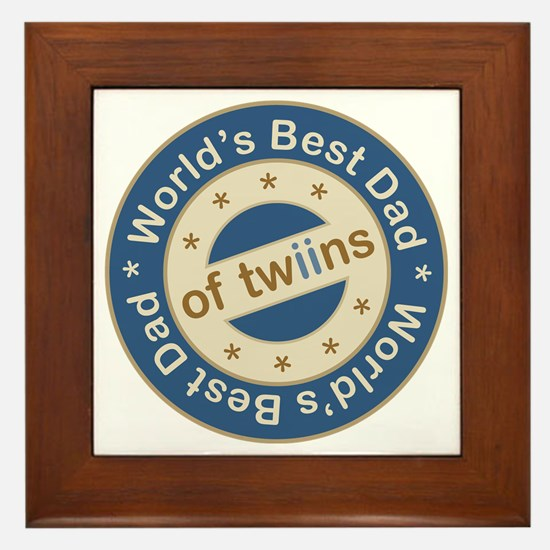 World's Best Dad of Twin Boys Framed Tile