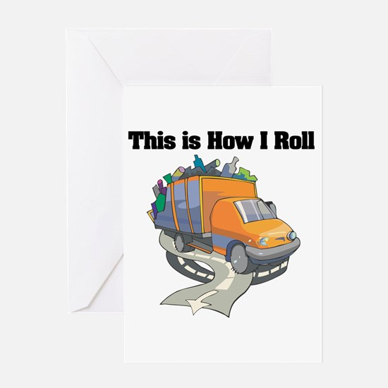 How I Roll (Garbage Truck) Greeting Card