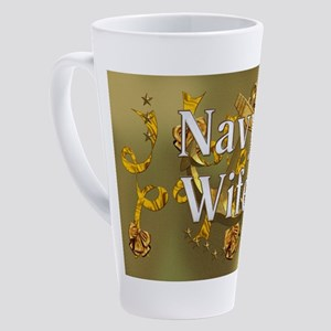 Harvest Moons Navy Wife 17 oz Latte Mug
