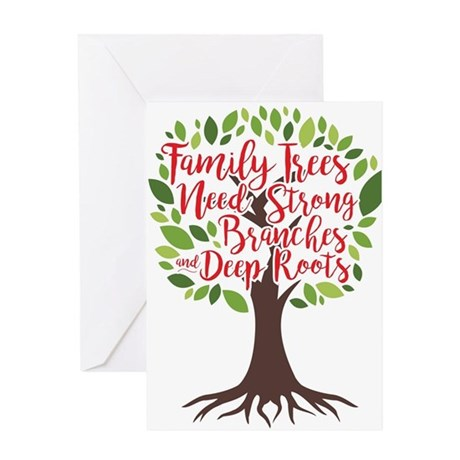 Family Trees Deep Roots Greeting Cards