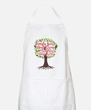 Family Trees Deep Roots Light Apron