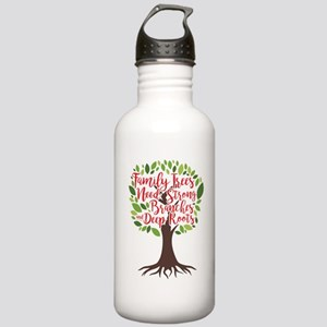 Family Trees Deep Roots Water Bottle