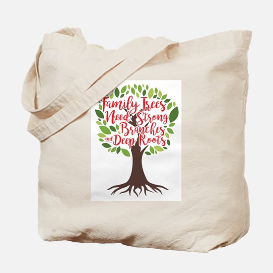 Family Trees Deep Roots Tote Bag