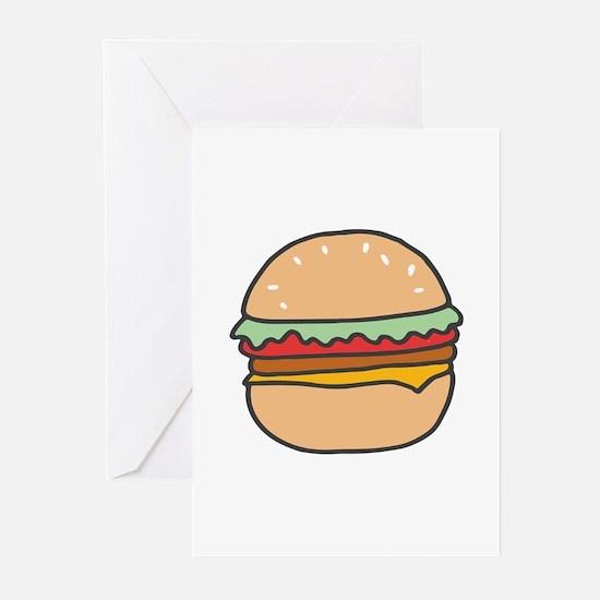 Burger Greeting Cards