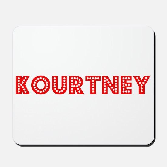 Retro Kourtney (Red) Mousepad