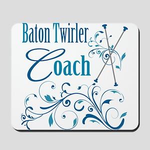 Baton Twirler Coach Mousepad