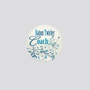 Baton Twirler Coach Mini Button