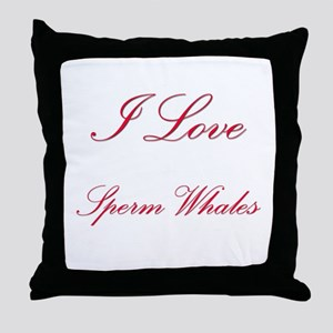 I Love Sperm Whales Throw Pillow