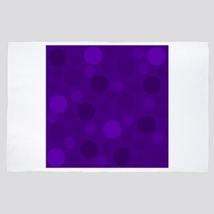 Purple Lavender Dark Light Modern Dots 4' x 6' Rug
