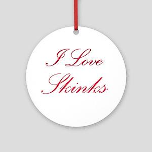 I Love Skinks Ornament (Round)