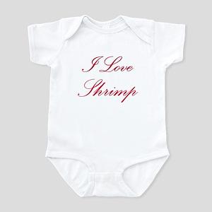 I Love Shrimp Infant Bodysuit