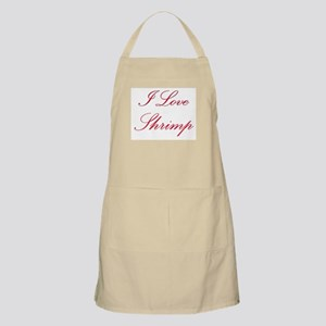 I Love Shrimp BBQ Apron