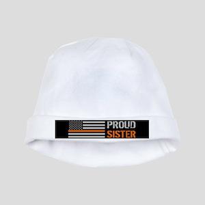 U.S. Flag Orange Line: Proud Sister (Blac Baby Hat