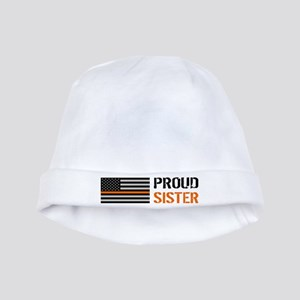 U.S. Flag Orange Line: Proud Sister (Whit Baby Hat