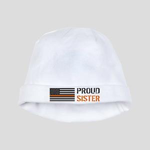 U.S. Flag Orange Line: Proud Sister Baby Hat