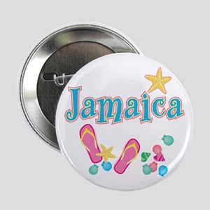 "Jamaica Flip Flops - 2.25"" Button"