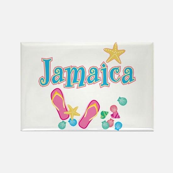 Jamaica Flip Flops - Rectangle Magnet