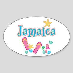 Jamaica Flip Flops - Oval Sticker