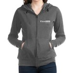 Women's Zippered Dark Hooded Sweatshirt