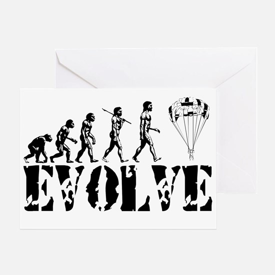 Skydiving Evolution Greeting Card