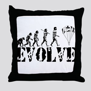 Skydiving Evolution Throw Pillow