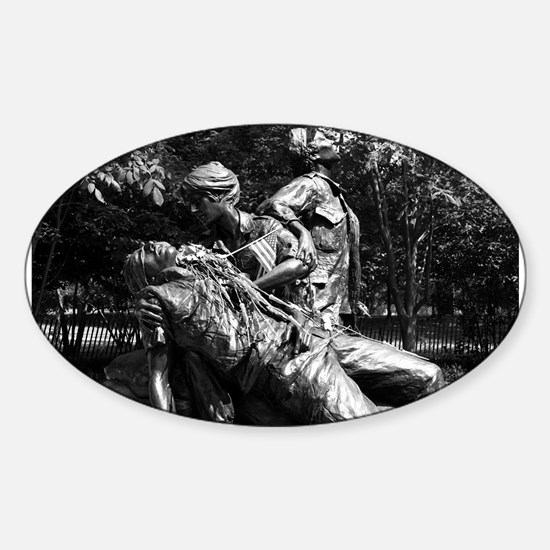 Vietnam Womens Memorial Oval Decal