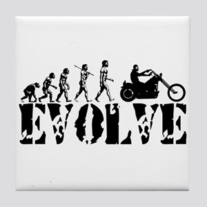 Motorcycle Rider Tile Coaster