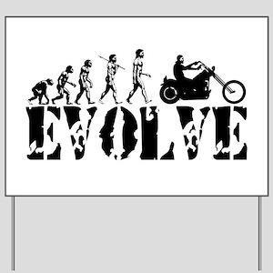 Motorcycle Rider Yard Sign