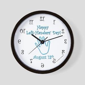 Left Handers' Day Wall Clock