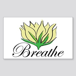 Yoga Breathe Rectangle Sticker