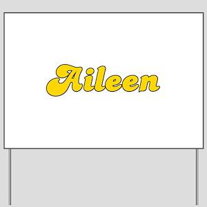 Retro Aileen (Gold) Yard Sign