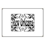 New Orleans Wrought Iron Design Banner