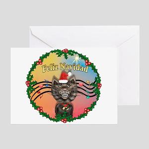 W-XMusic2-Tabby Cat (Ctn) Greeting Card