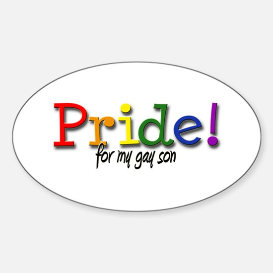Pride Gay Son Oval Decal