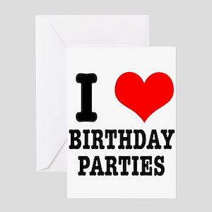 I Heart (Love) Birthday Parti Greeting Card