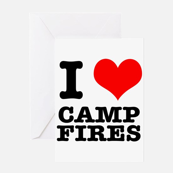 I Heart (Love) Camp Fires Greeting Card