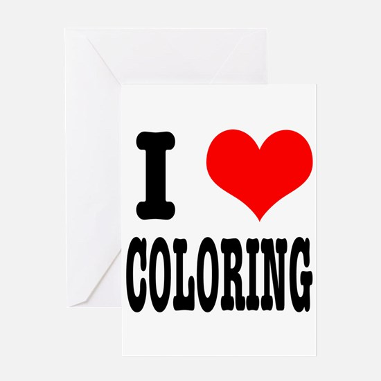 I Heart (Love) Coloring Greeting Card
