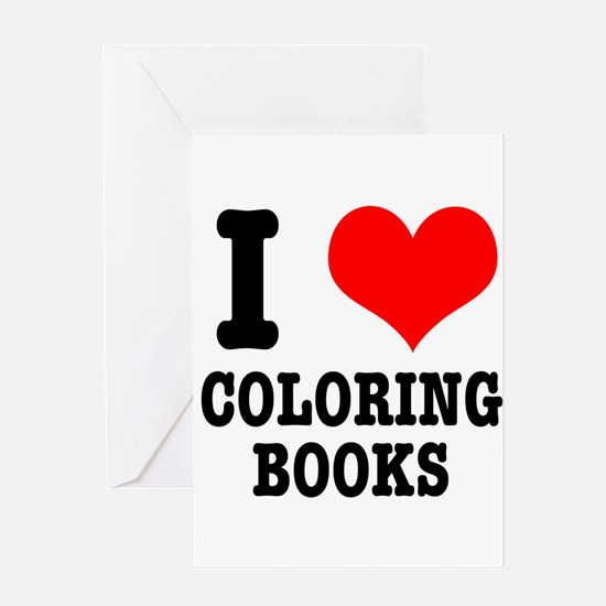 I (Heart) Love Coloring Books Greeting Card