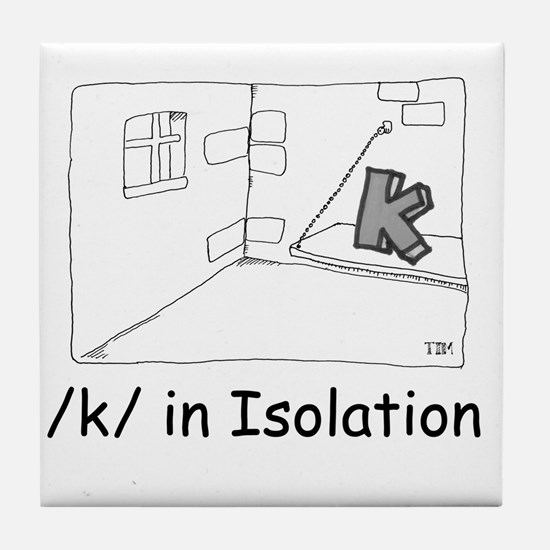 K in isolation Tile Coaster