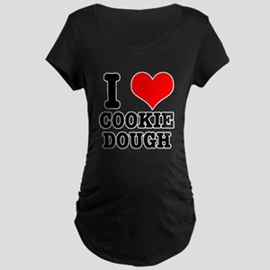 I Heart (Love) Cookie Dough Maternity Dark T-Shirt