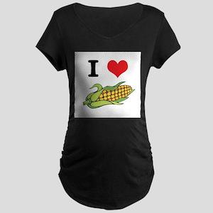 I Heart (Love) Corn (On the C Maternity Dark T-Shi